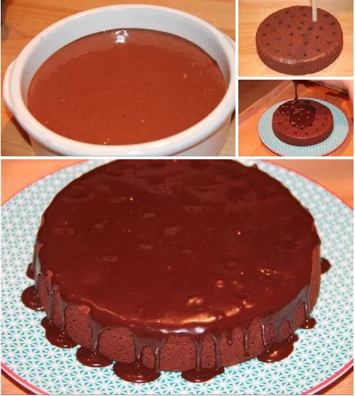 Poke cake double chocolat cuisine en folie - Faire une emulsion en cuisine ...