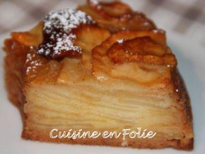 gâteau invisible aux pommes 1