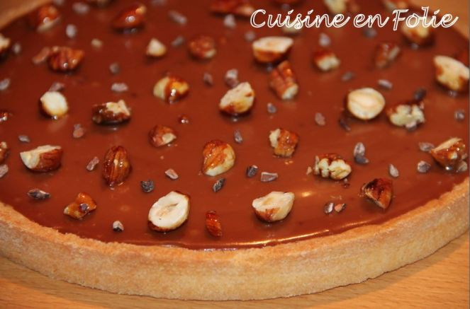 Tarte caramel aux fruits secs