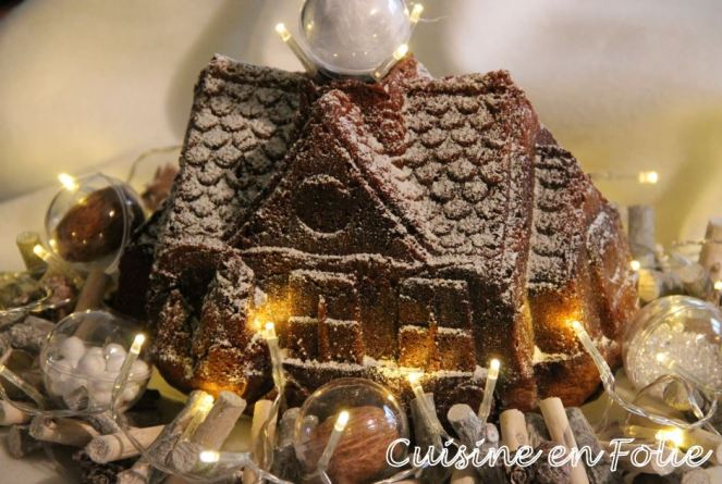 Ma maison de Noël chocolat-vanille
