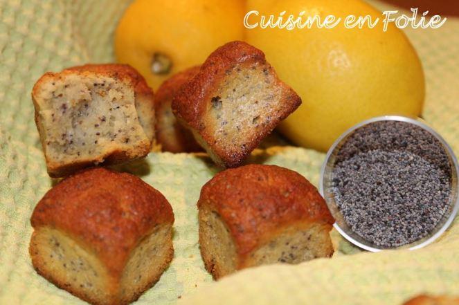 Cubes citron et pavot