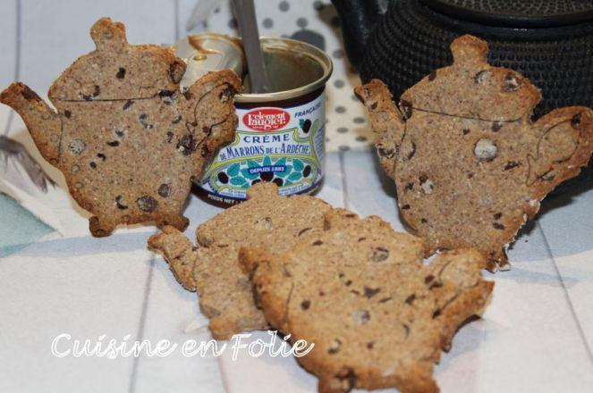 Mes p'Tea biscuits marrons, noisette et chocolat