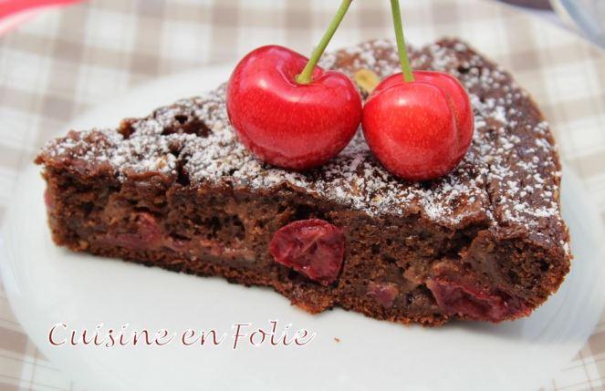 Gateau chocolat-cerises