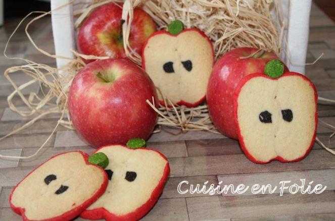 Sablés tranches de pommes