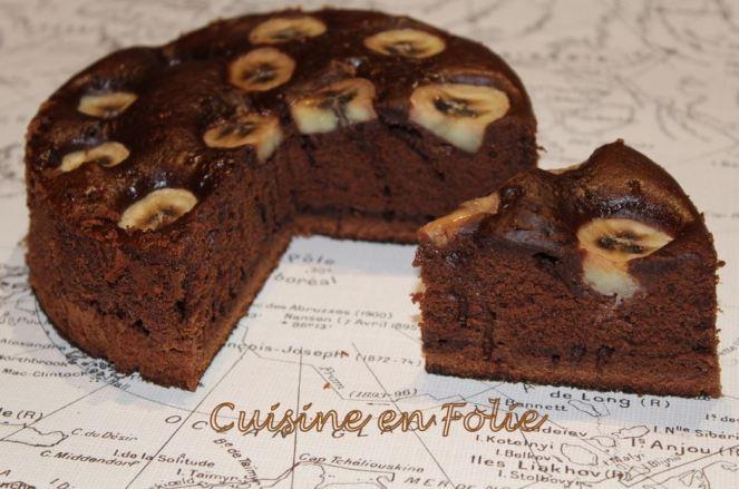 Gâteau choco-banane à laplanche