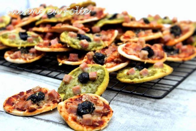 Minis pizzas 100% homemade